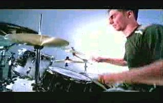 Scott playing drum